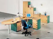 офисная мебель для персонала серия NET - Beech – Green