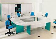 офисная мебель для персонала серия NET - Grey – Green